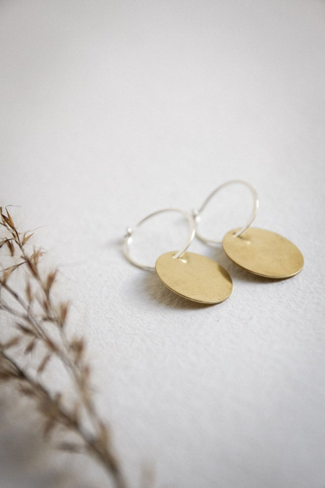 Image of New brass oval drops