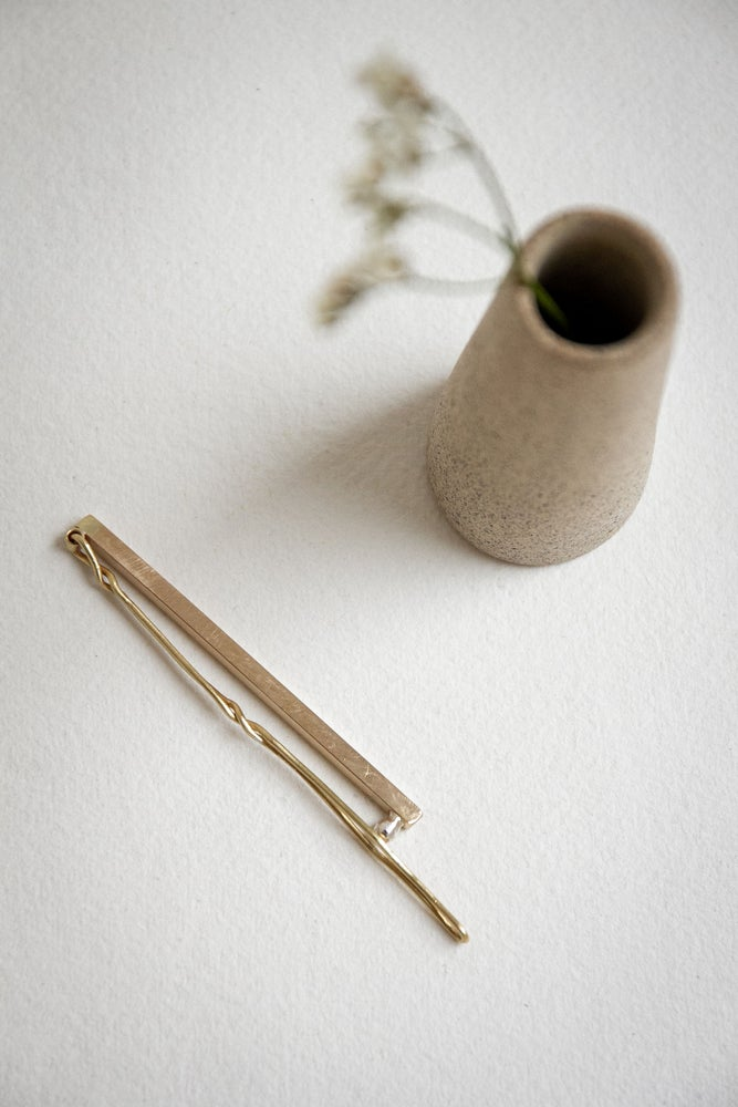 Image of New Minimal  brass hair clip