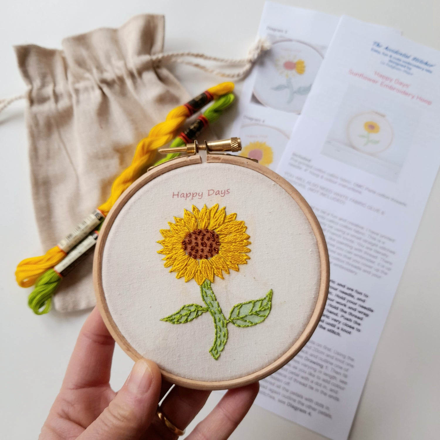 Image of Sunflower Hand Embroidery Kit