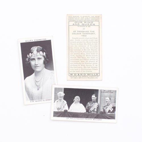 Image of Our King and Queen Cigarette Cards - Set of 8