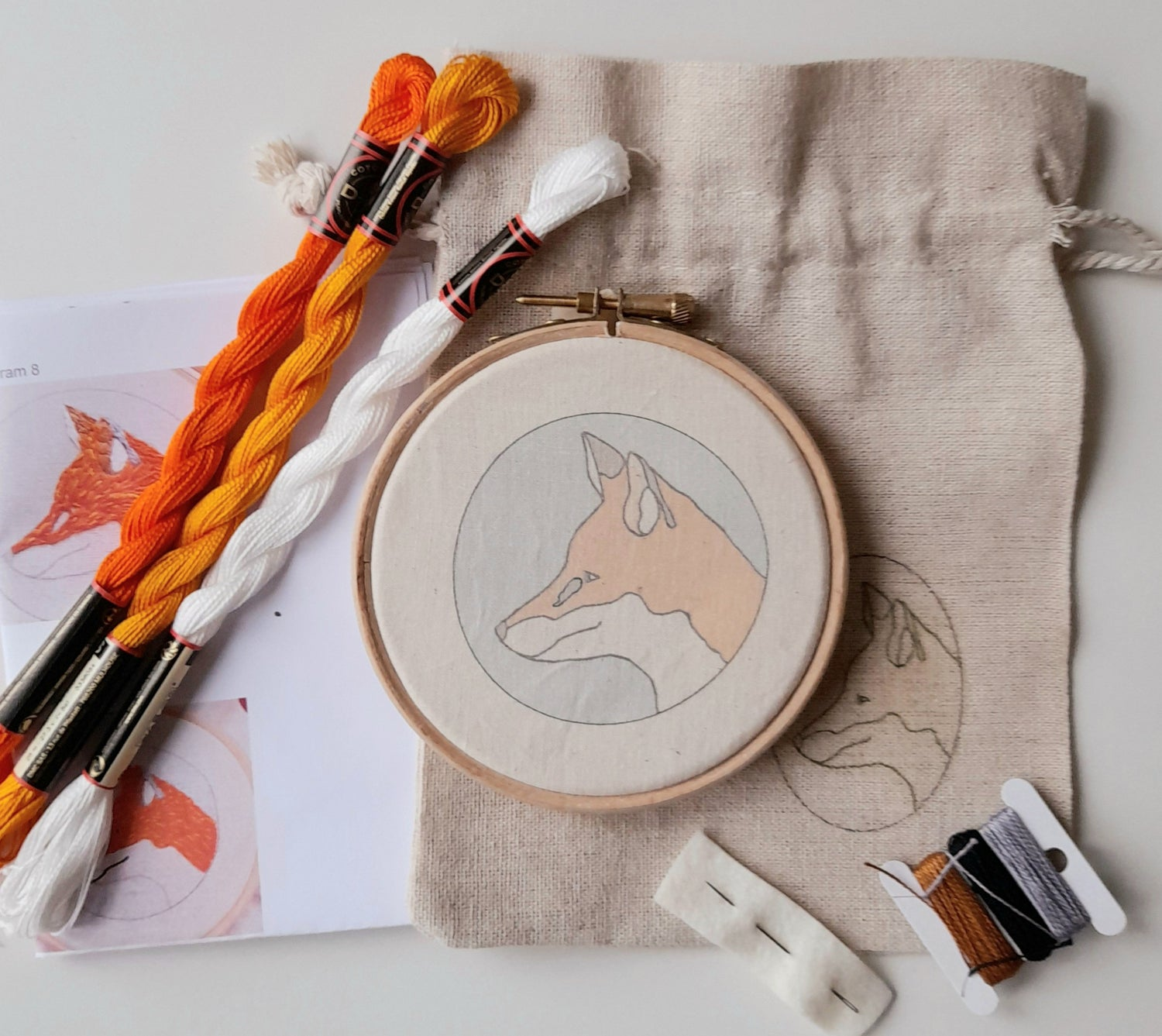 Image of Fox Hand Embroidery Kit
