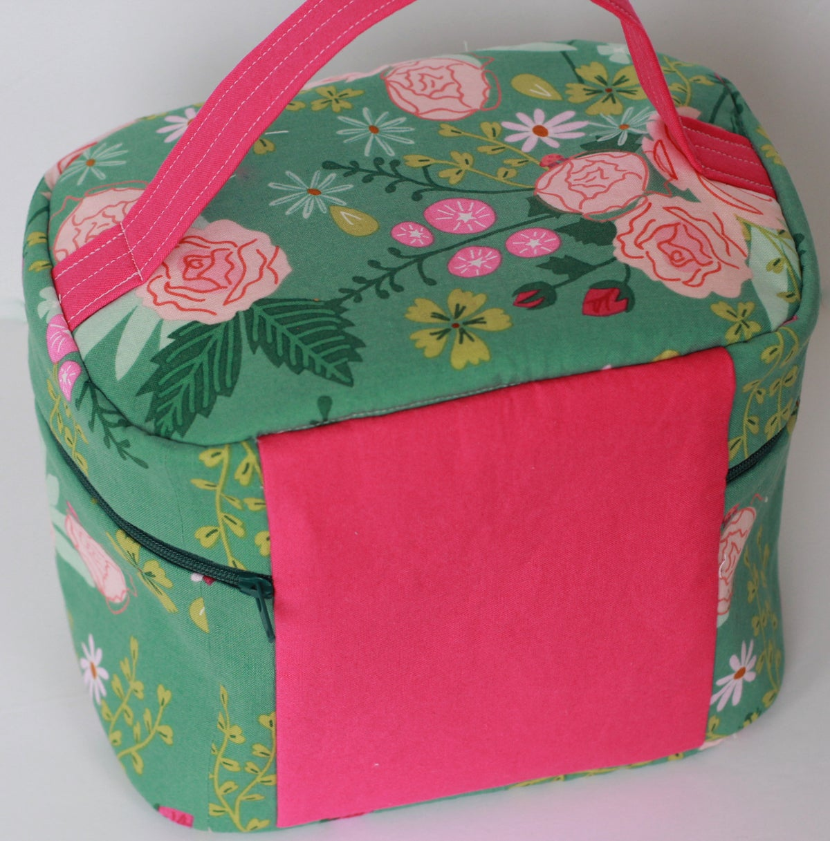 Image of Spring Flowers Vintage Inspired Train Case Sewing KIT