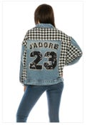 Image of Houndstooth Jean jacket