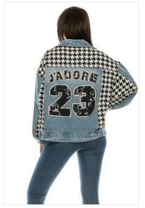 Image of Houndstooth Jean jacket