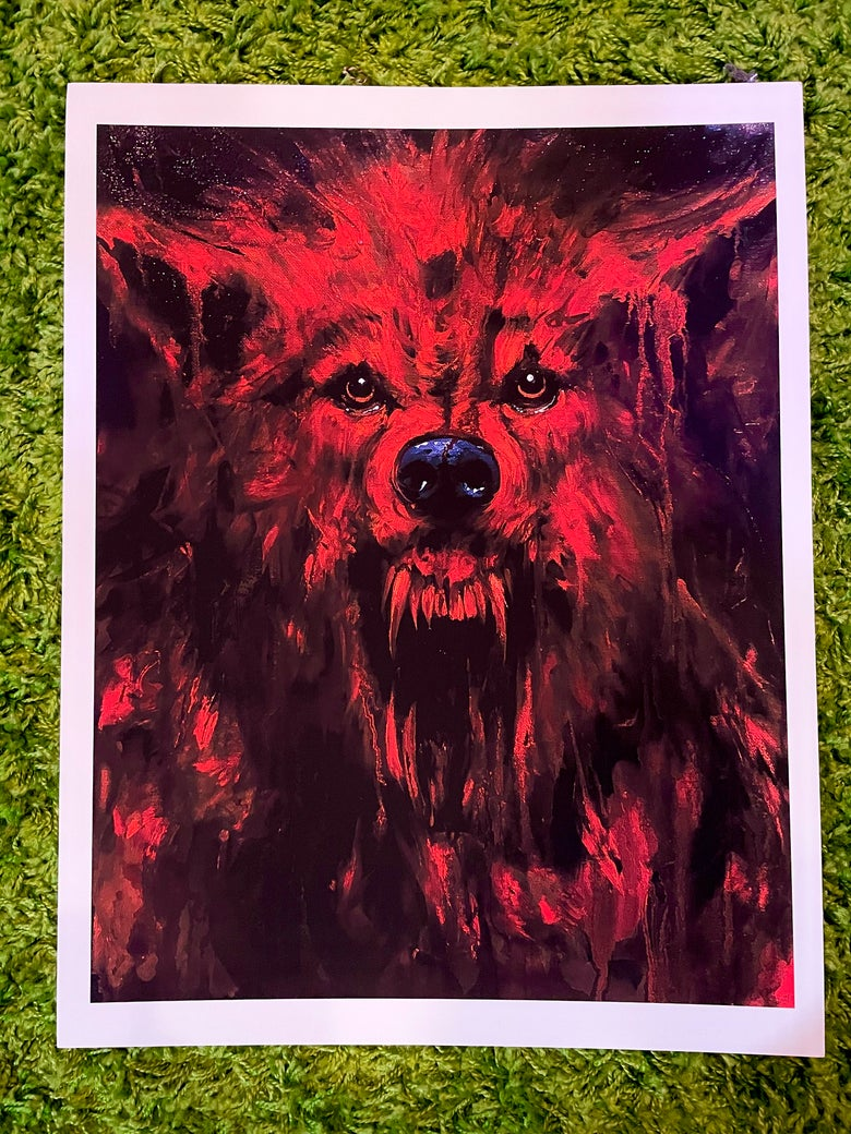 Image of Blood Wolf ( limited edition print )