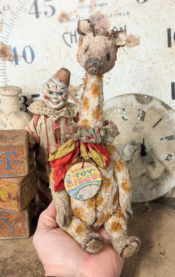 "Image of Schoenhut ToY Circus 10"" Giraffe by Whendi's Bears"