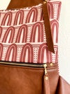 Faux leather Pink sling bag