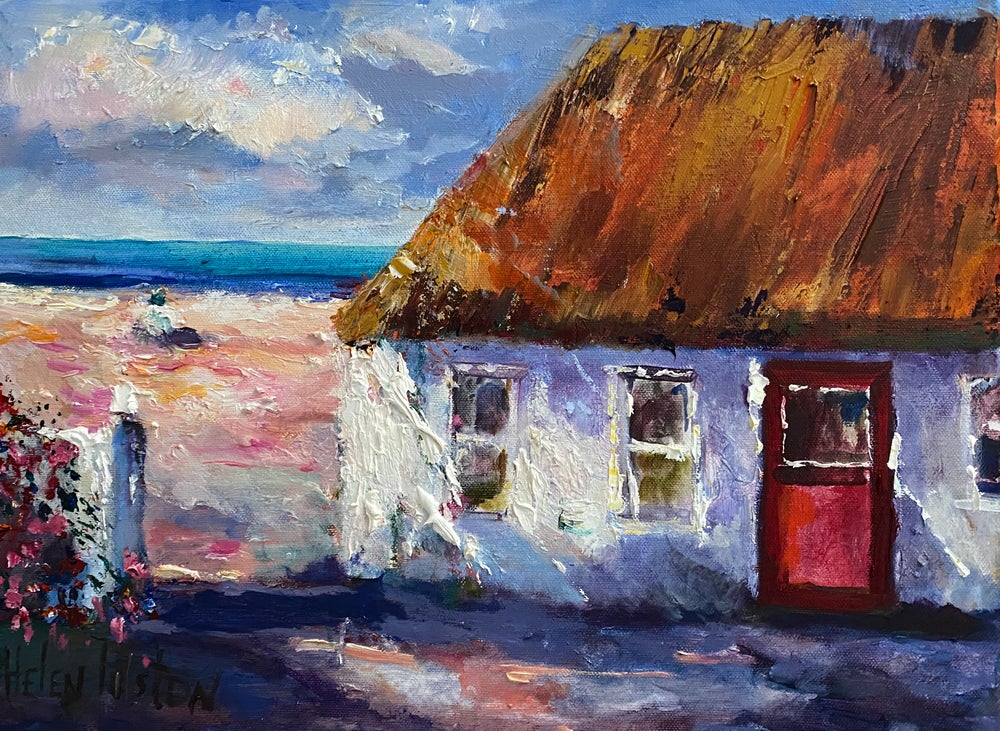 Image of Irish Traditional Thatched Cottage by Helen Tilston