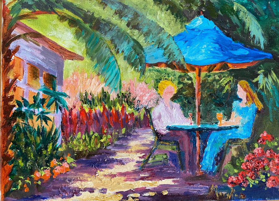 Image of Beachside Garden by Mary Rose Holmes