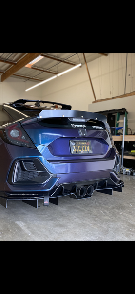 Image of 2016+ Civic Hatchback gurney flap
