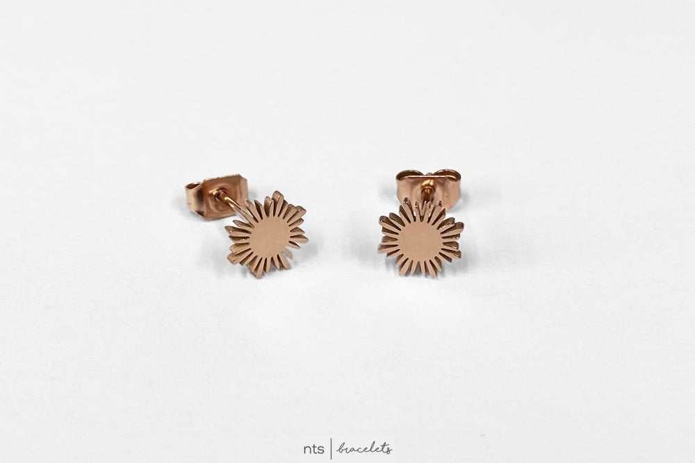 Image of FILIPINO INSPIRED SUN EARRINGS (Limited Edition + Rose Gold)