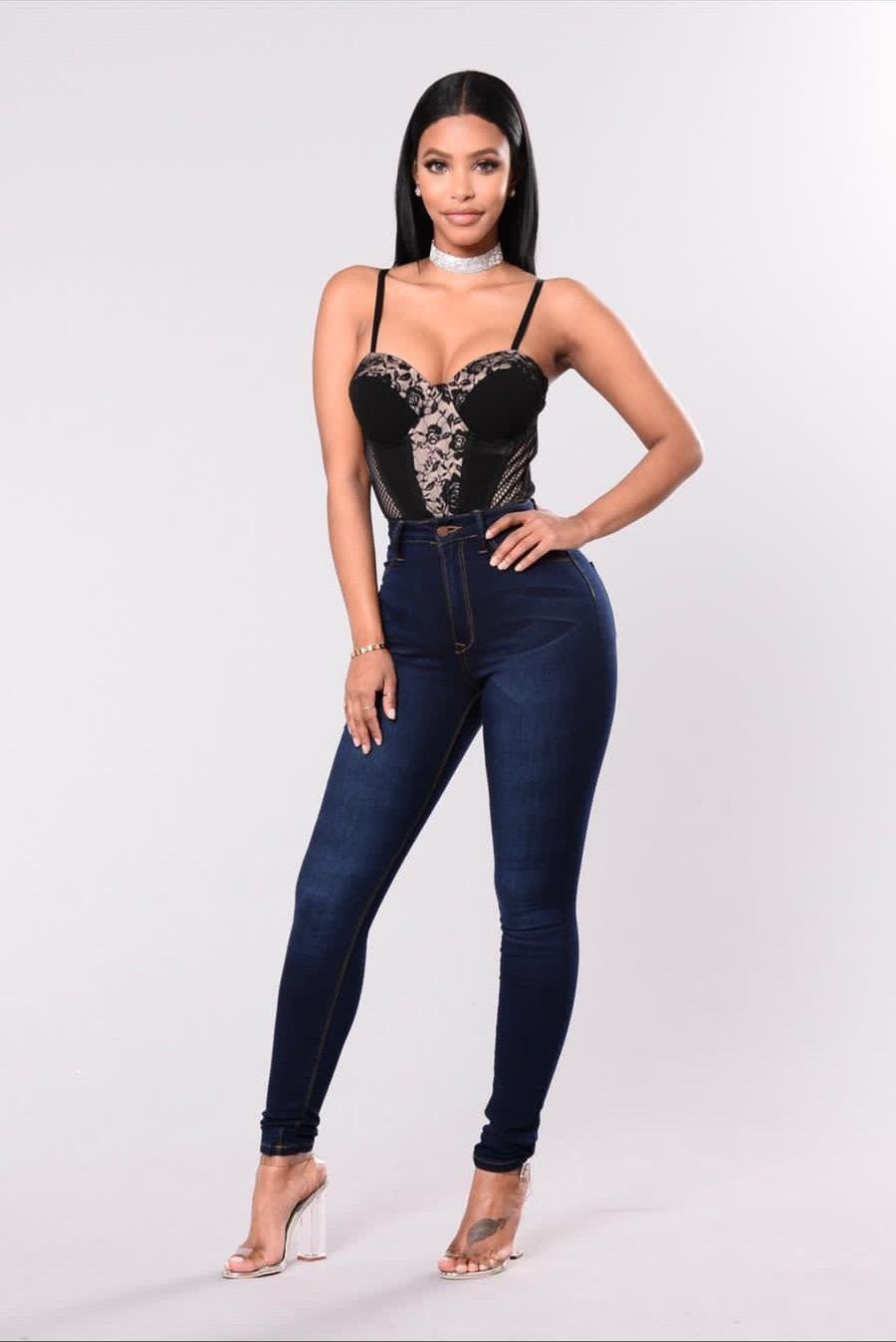 Image of Pantalon de Mezclilla Cintura Alta