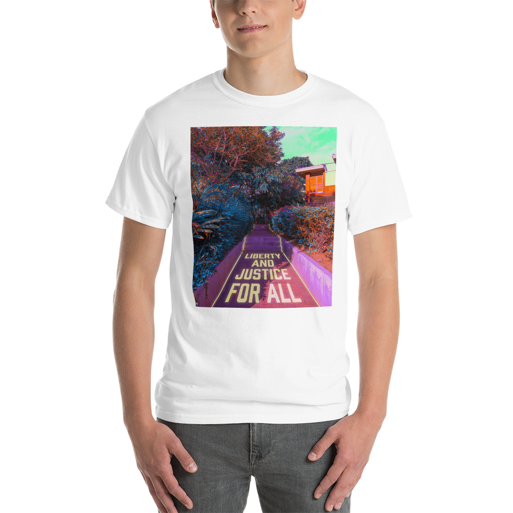 """Unisex T-Shirt: """"Liberty and Justice for All"""" (donation)"""