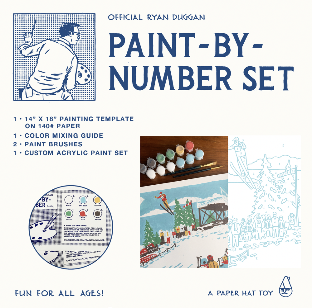 Image of Official Ryan Duggan Paint-by-Number Set #2