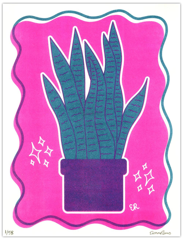 Snake Plant Risograph