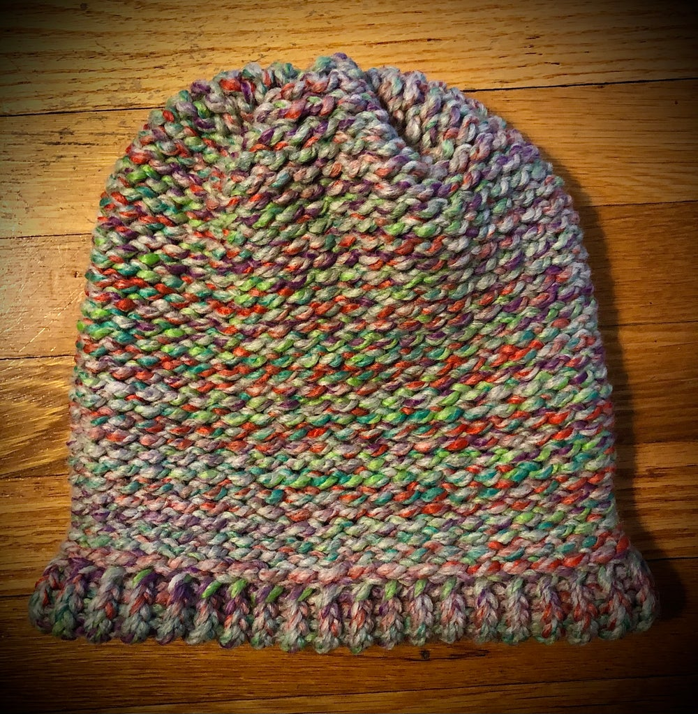 """Mermaiding with Alana"" hand-knitted slouchy hat"