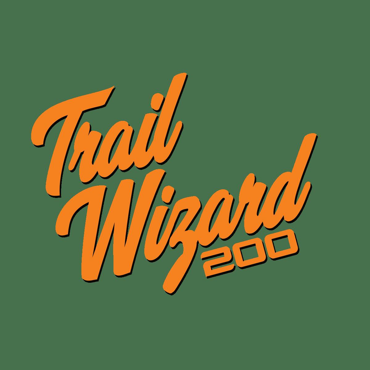 Trail Wizard 200 Cursive Black & Orange