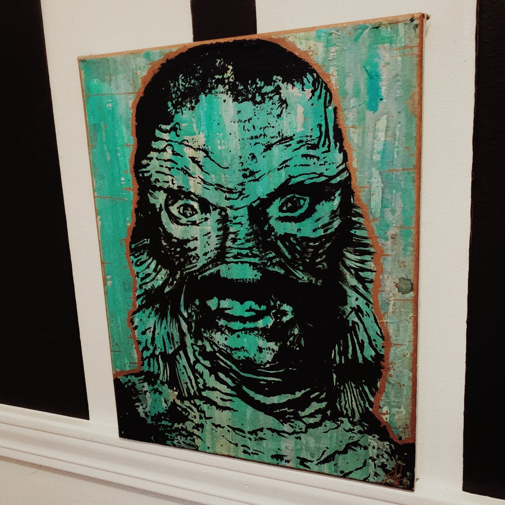 Image of Creature from the Black Lagoon Painting