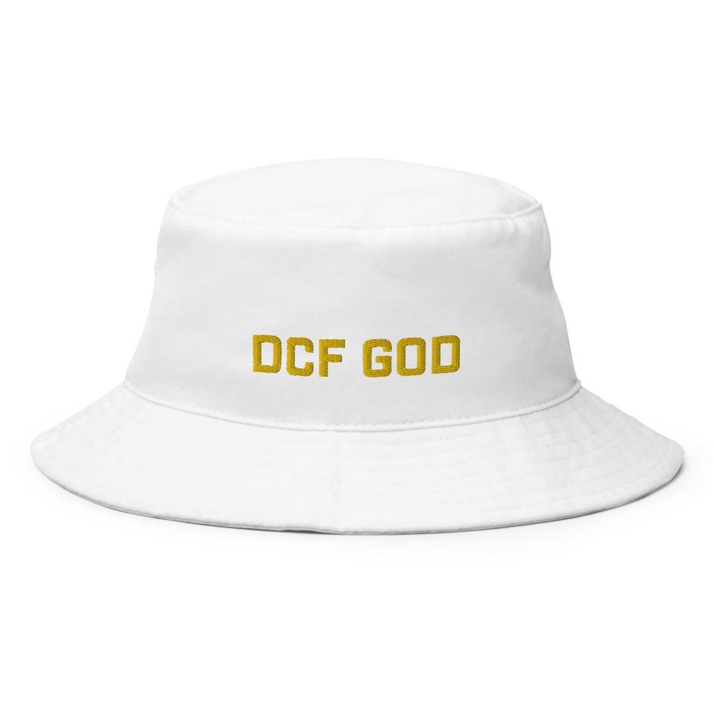 Image of dcf god bucket hat (white)