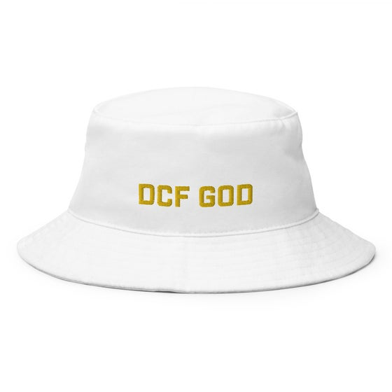 Image of dcf god bucket hat (white)