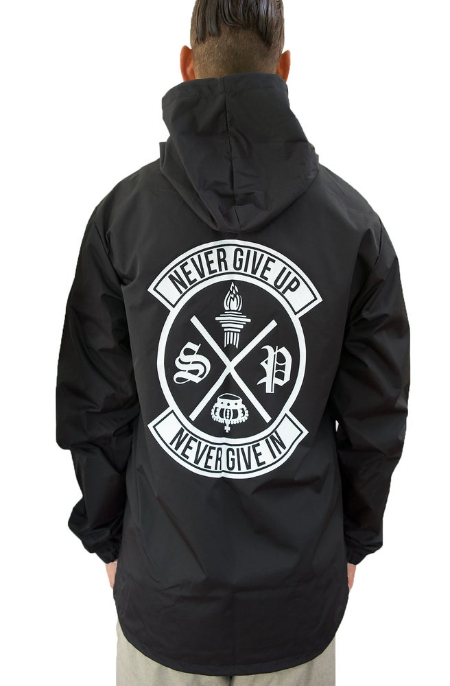 Image of NEVER GIVE IN Windbreaker