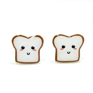 Image of Bread Buddy 1 Earrings - Sterling Silver Posts