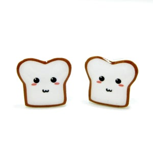 Image of Bread Buddy 2 Earrings - Sterling Silver Posts