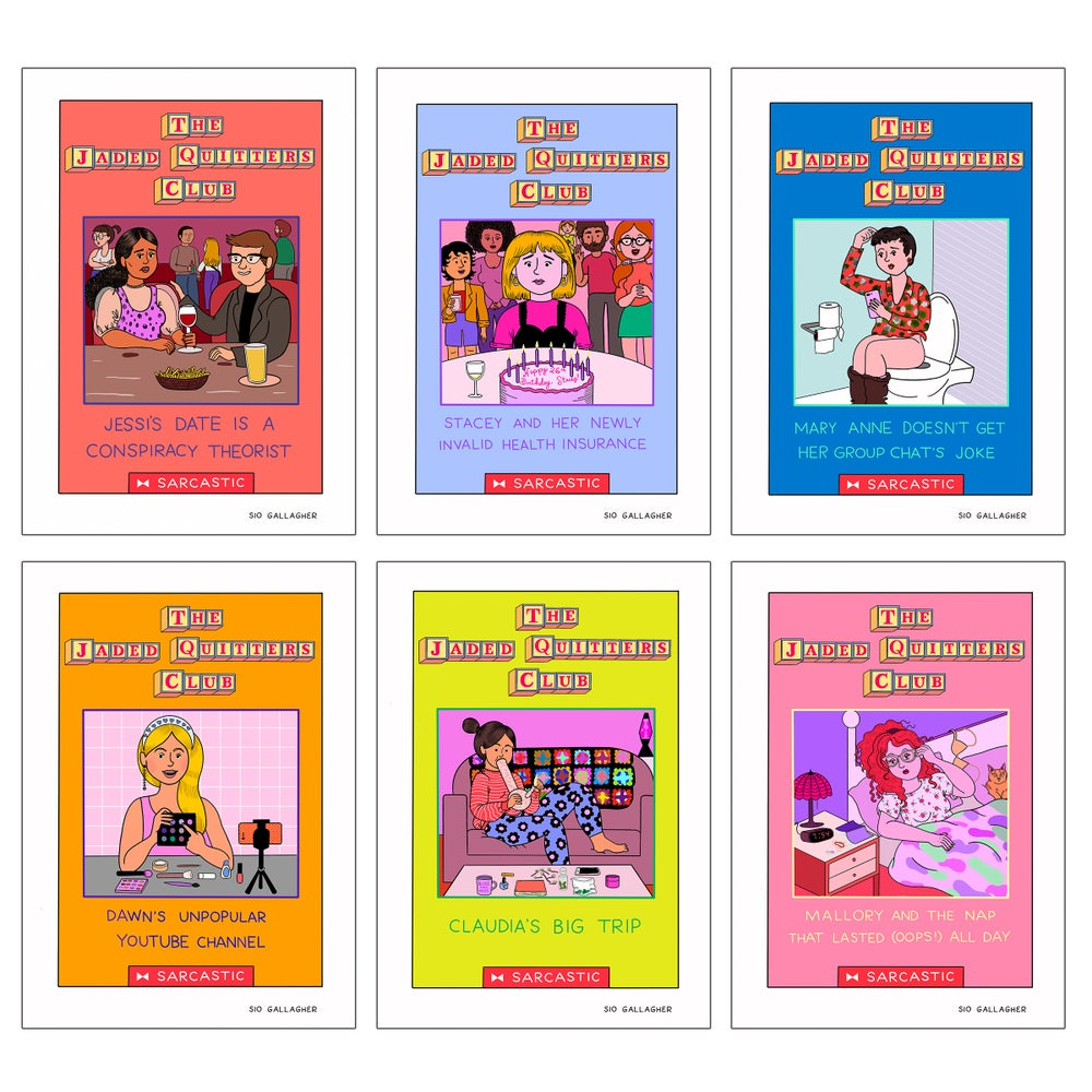 Image of Jaded Quitters Club postcards