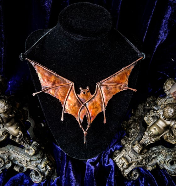 Image of Copper Bat - Necklace