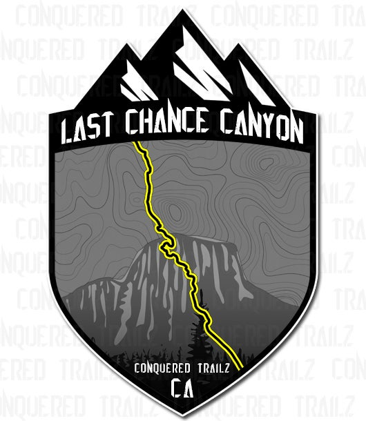 """Image of """"Last Chance Canyon"""" Trail Badge"""