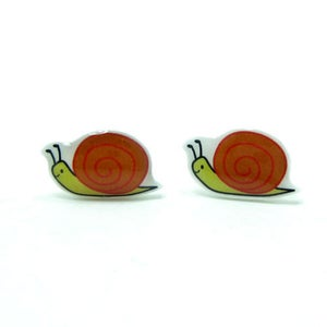 Image of Snail Earrings - Sterling Silver Posts