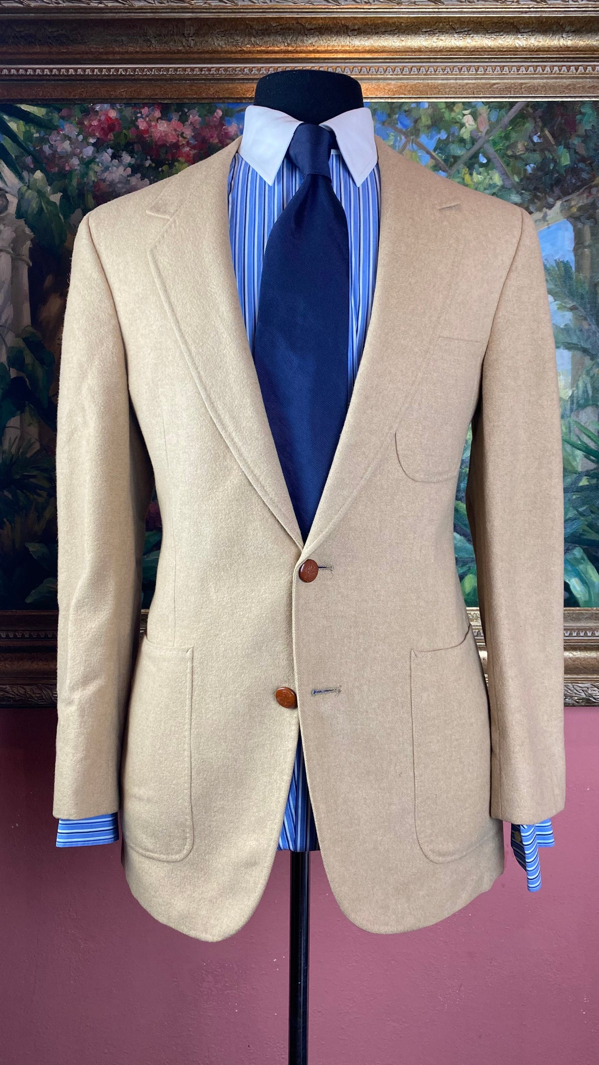 Image of VTG Camel Wool Blazer