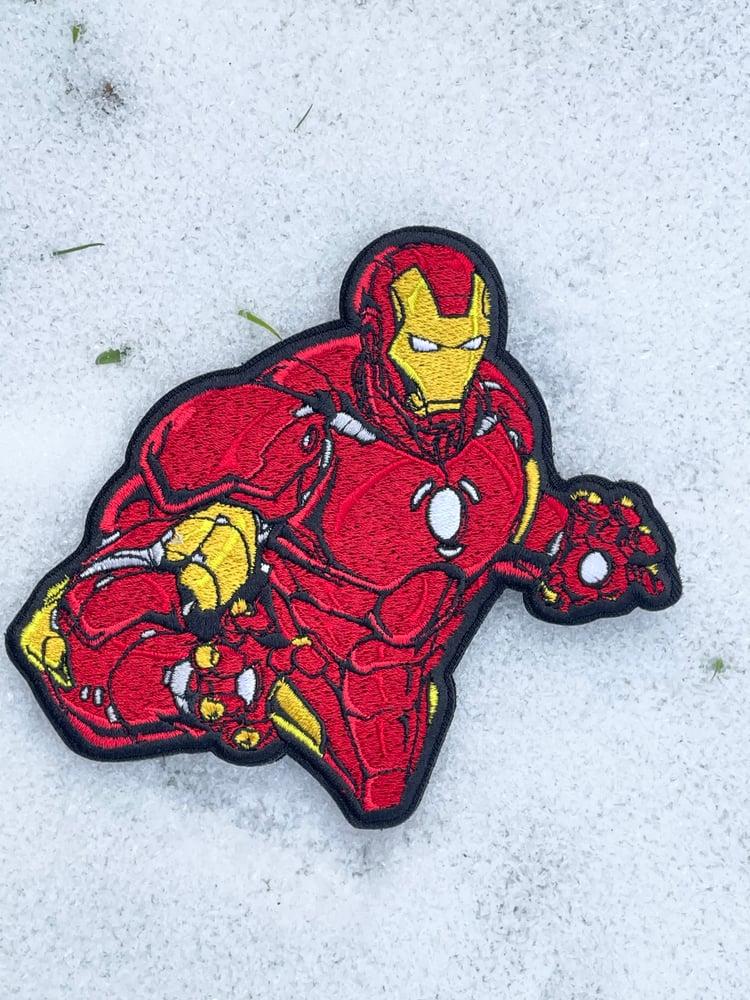 Image of The Red Shiny Armor Superhero
