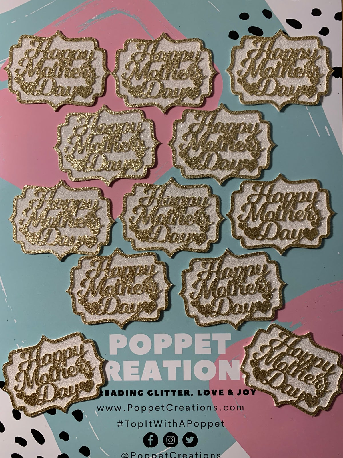 Image of Mother's Day cupcake toppers (set of 6)
