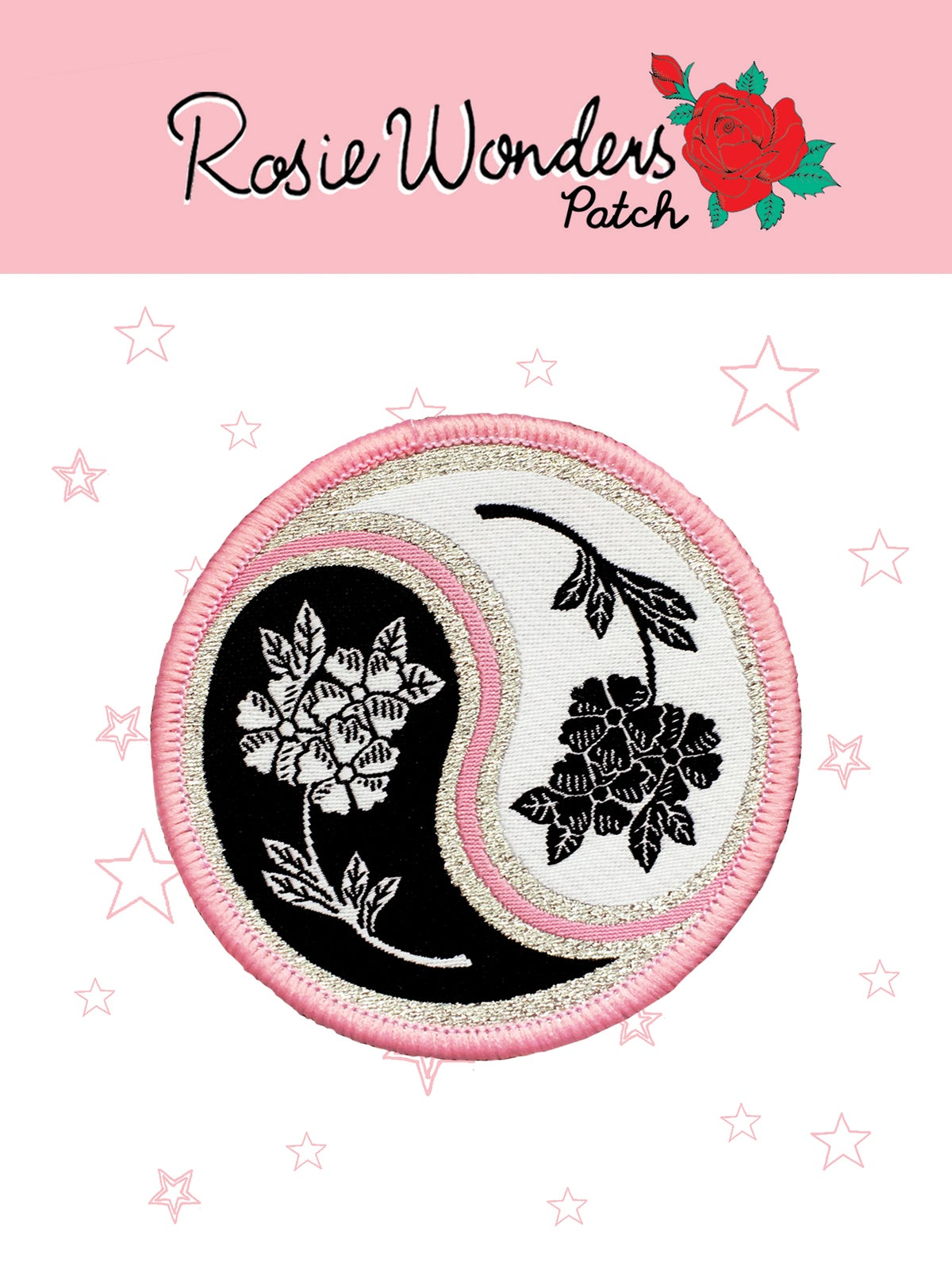 **NEW** Floral Yin Yang Iron on Patch
