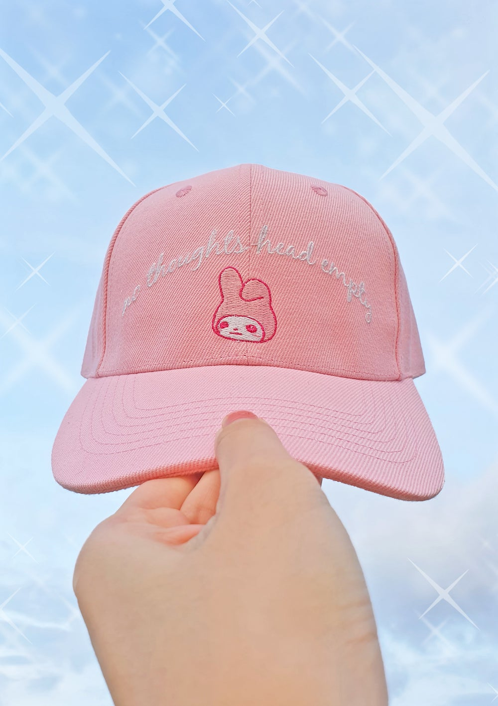 """Image of """"No Thoughts Head Empty"""" My Melody Baseball Cap - Pink"""