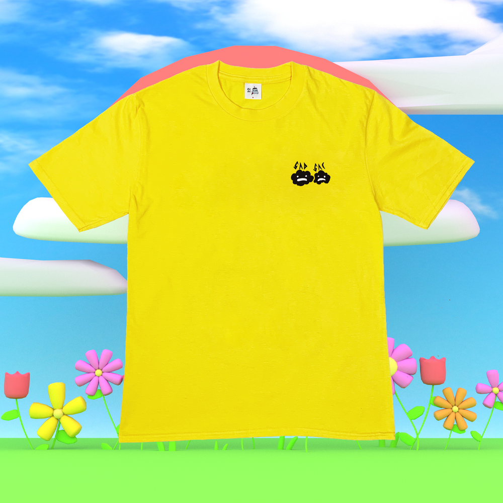 """Image of """"Frown town"""" t-shirt (Yellow)"""