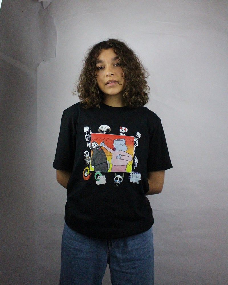 """Image of """"Feelings are for the fault"""" t-shirt (Black)"""
