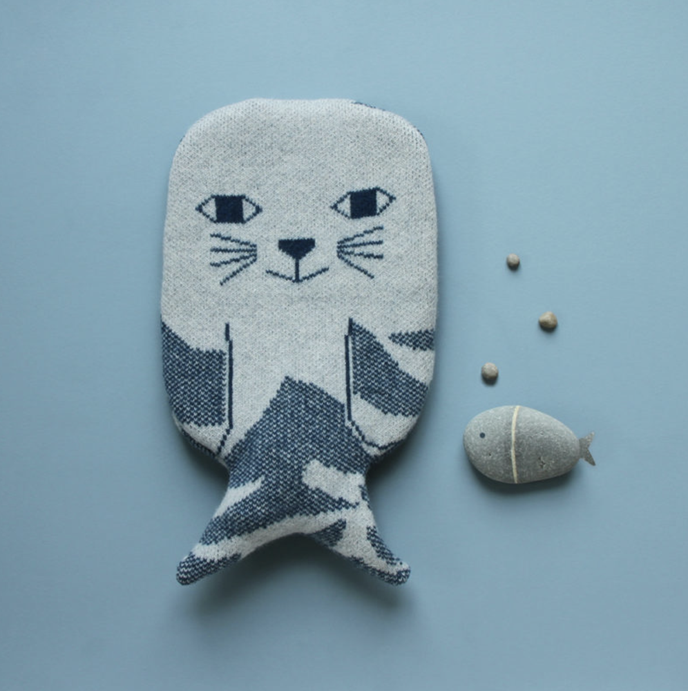 Image of Seal hot water bottle by Donna Wilson
