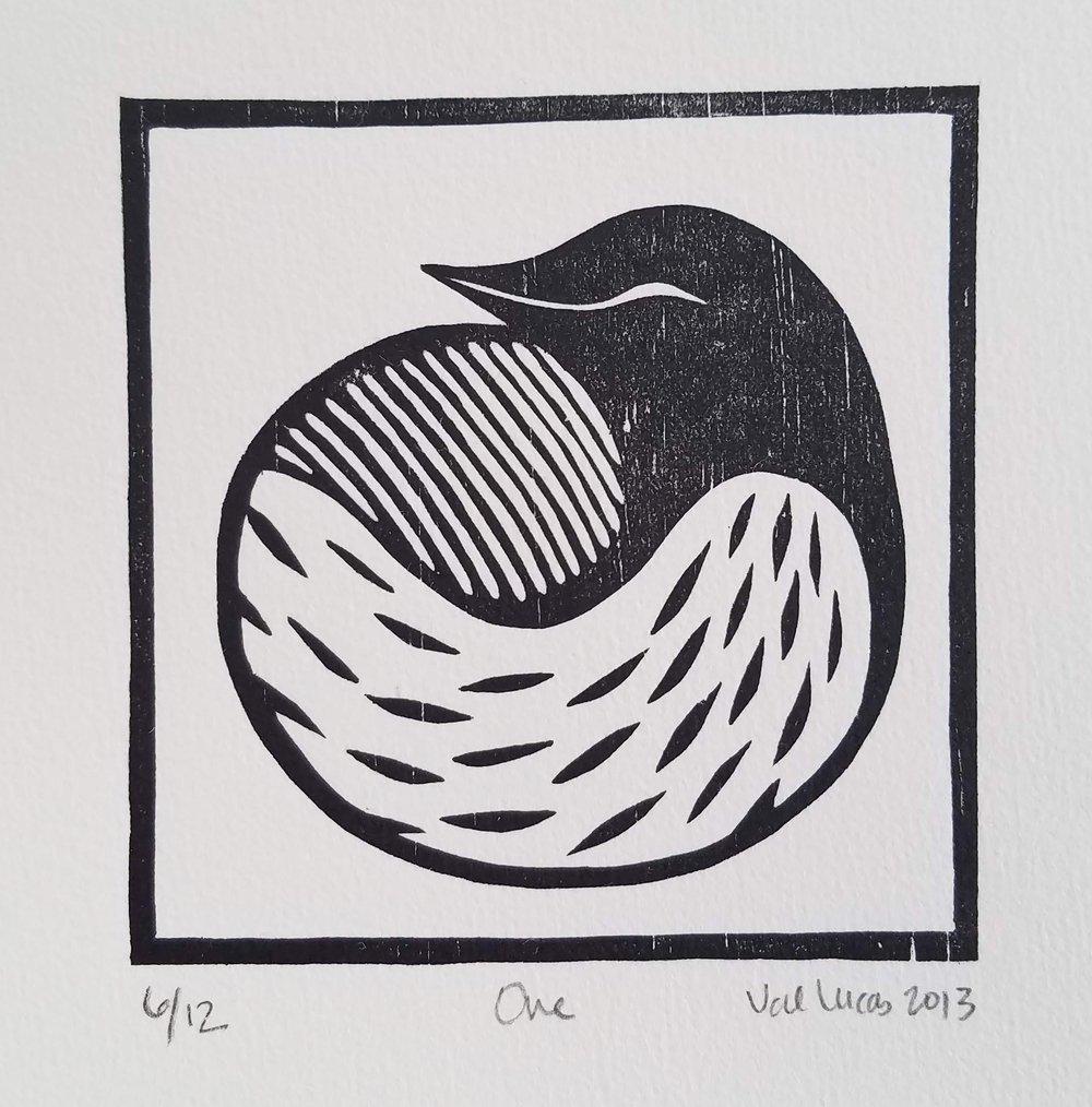 Image of One- Woodcut