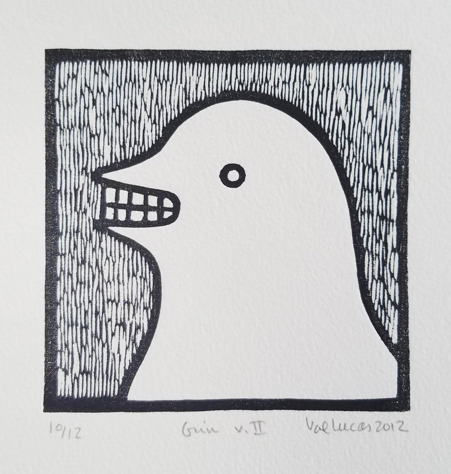 Image of Grin - Woodcut