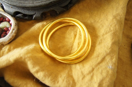 Image of Gold Prayer Bangles (set of 3)
