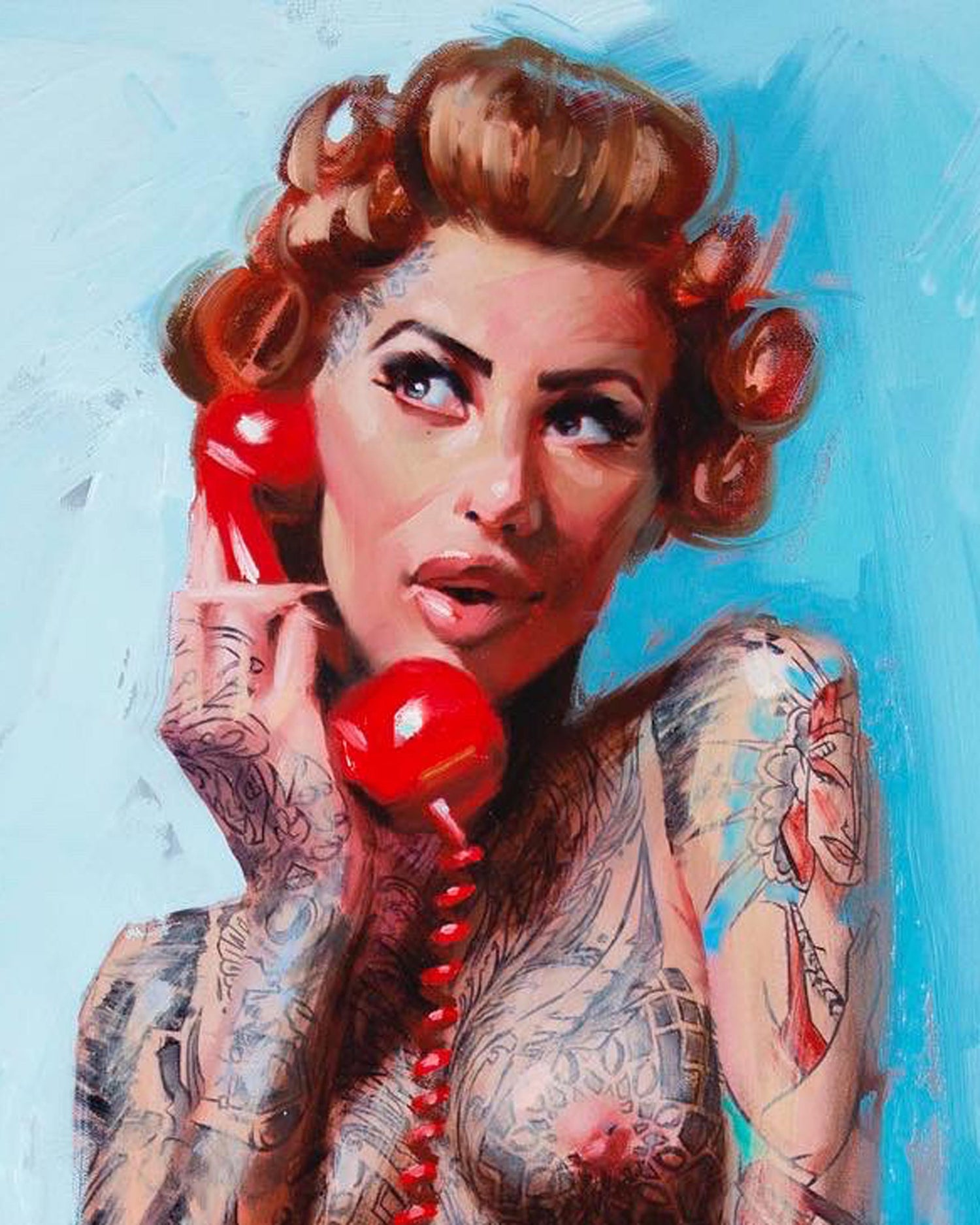 Image of Extremely Limited Edition 'RED PHONE' Giclee Print