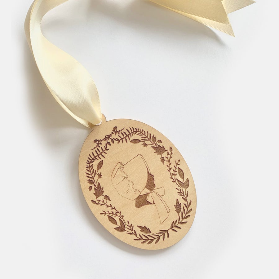 Image of Engraved Wooden Silhouette Ornament