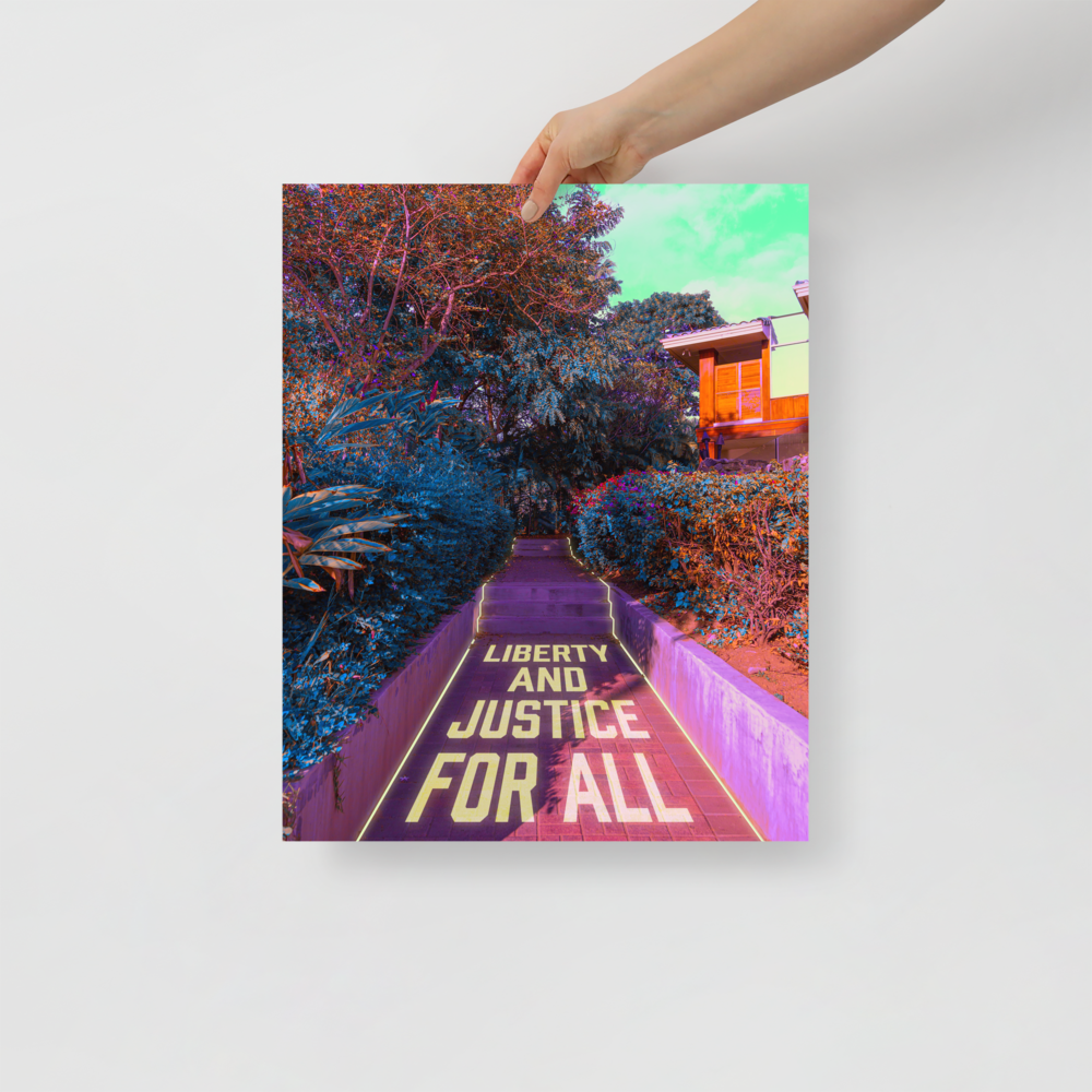 """Large Poster: """"Liberty and Justice for All"""" (donation)"""