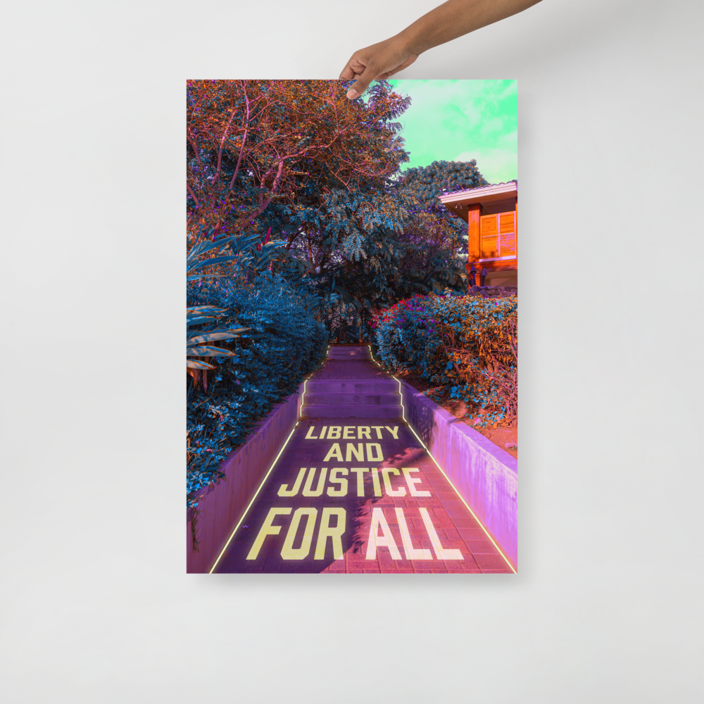 """Poster: """"Liberty and Justice for All"""" (donation)"""