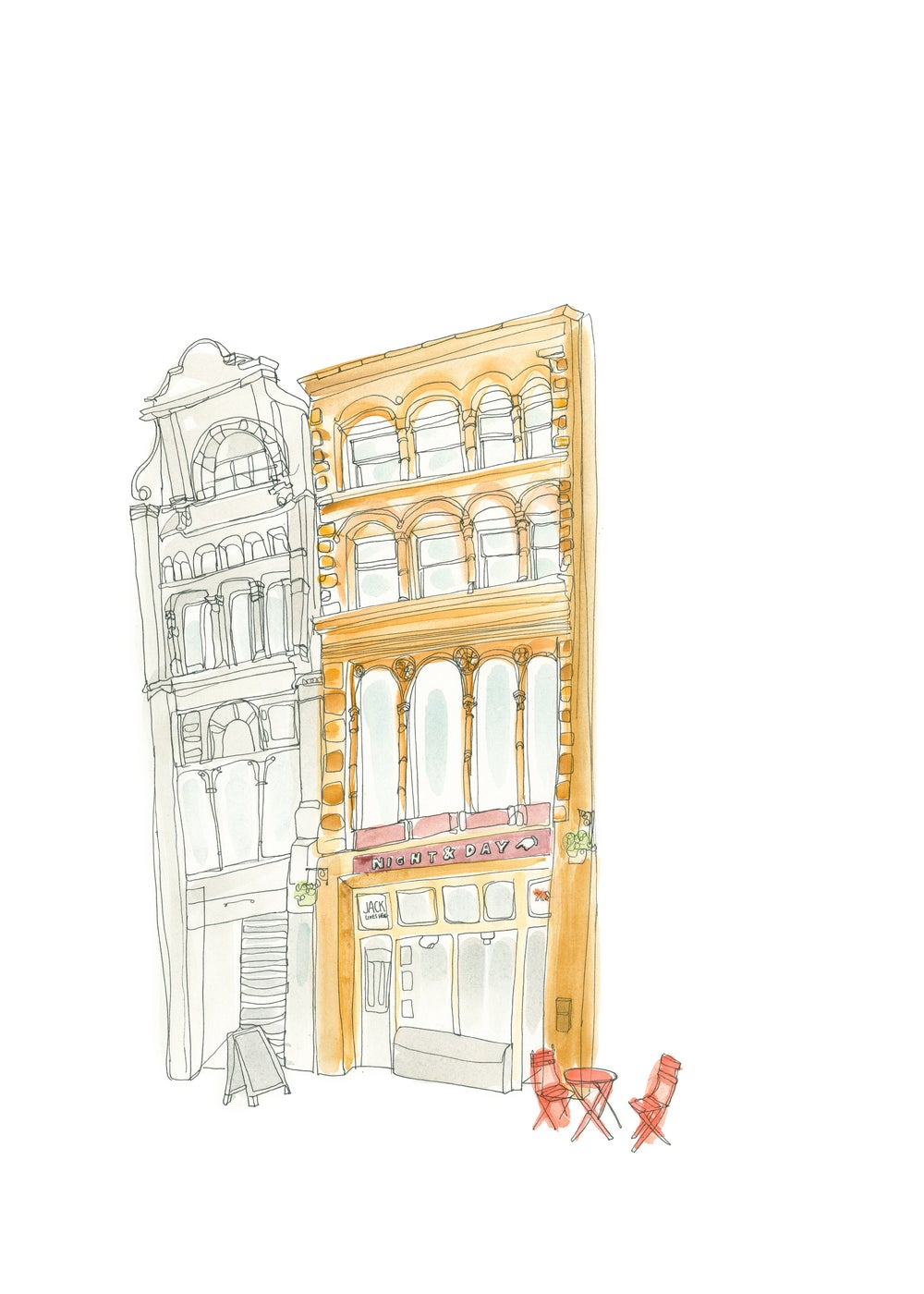 Image of The Night & Day Cafe Giclee Print