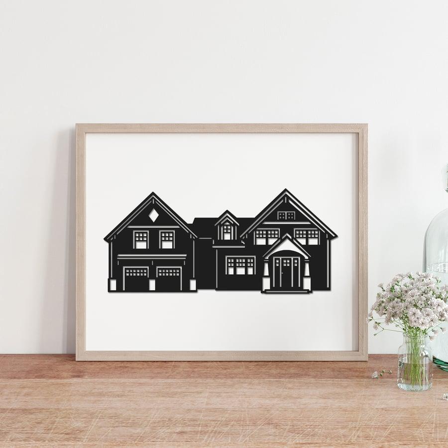 Image of Hand-Cut House Portrait