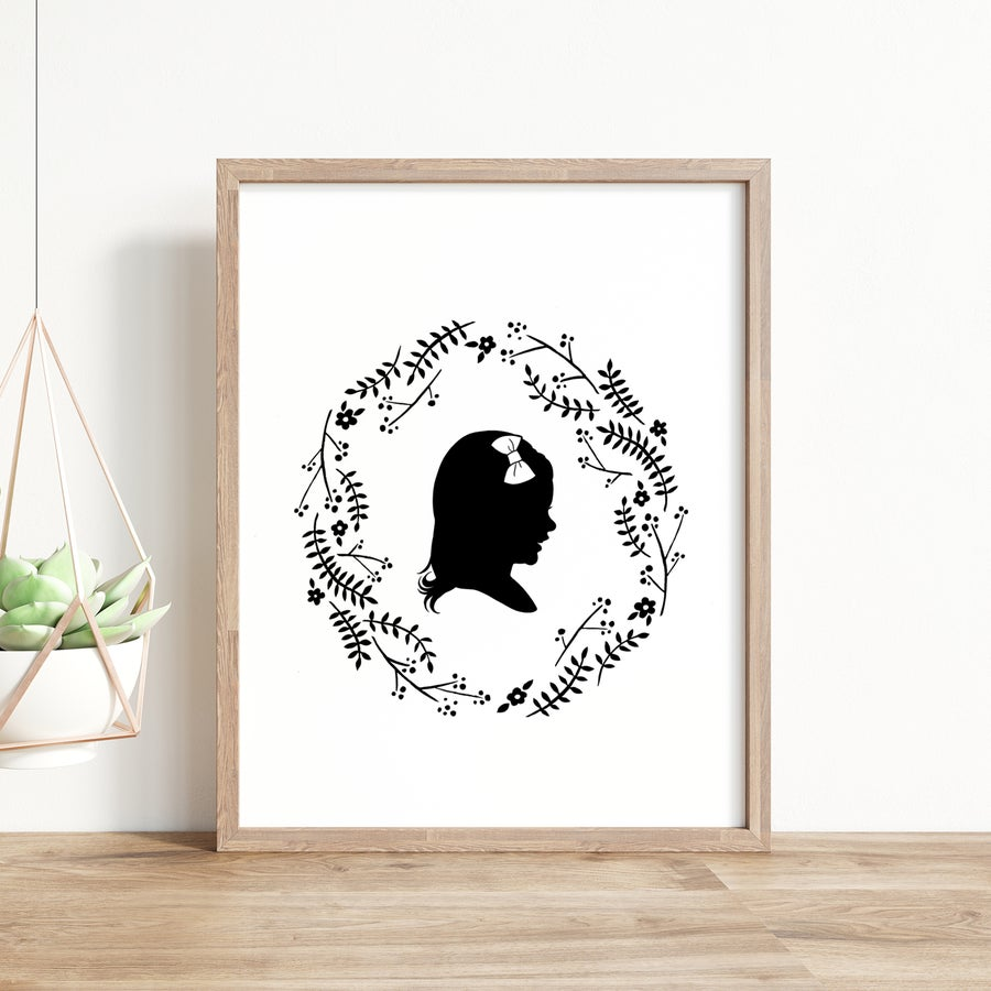 Image of Silhouette Portrait with Midsummer Wreath