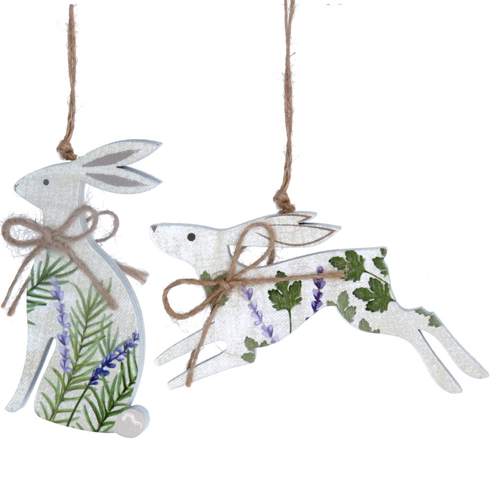 Image of Gisela Graham Lavender & Herb Hare wood decoration